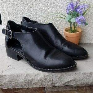 Lucky Brand Black Ankle boots.